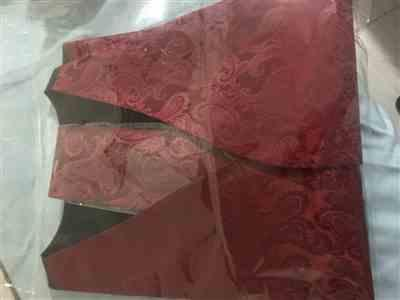 Anonymous verified customer review of Burgundy Paisley Tuxedo Vest Set