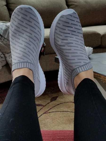 Nancy verified customer review of Unisex Slip-on Walking Shoes