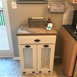 tylerm1 verified customer review of tilt out double bin with a drawer slim style and a cedar top (D-SLIM-DRAW-W-C/TOP)