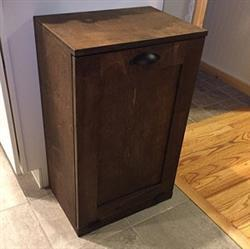 nicole verified customer review of single tilt out trash bin in stained dark brown (S-DW)
