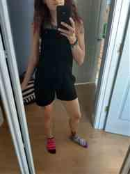 melana r. verified customer review of On The Move Overalls Short