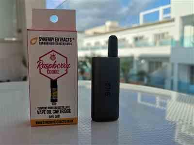 Ricky B. verified customer review of Pre-filled CBD Vape Cartridge - 54% CBD - Platinum Raspberry Cookies - Cannabis-Inspired Terpenes