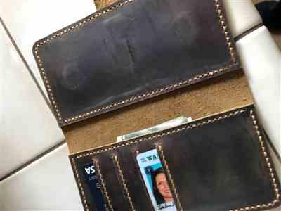 Lea Ann Grant verified customer review of Vintage Distressed Leather Magnetic iPhone Wallet Case