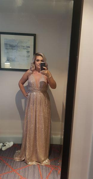 Oh Hello Clothing Lavida Maxi Gown Rose Gold Review