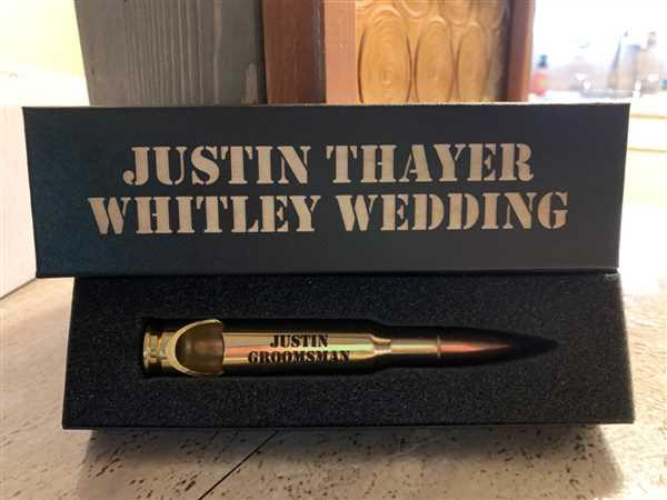 Groomsmen Central Brass .50 Caliber Bottle Openers with Personalized Gift Boxes Review