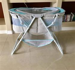 AlexC verified customer review of Karley Bassinet Sleeping Basket Crib Canopy For Infant Baby New Born, Blue/Grey