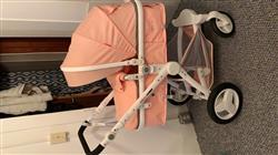 christine r. verified customer review of Luxury Leather Baby Stroller High-landscape Baby Carriage Pram