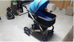 Diangana verified customer review of Luxury Newborn Baby Foldable Anti-shock High View Carriage Infant Stroller Pushchair - Blue