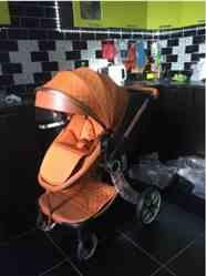 Stephanie verified customer review of Baby Stroller 2 in 1 With Sleeping Basket Baby Carriage Travel System Pram