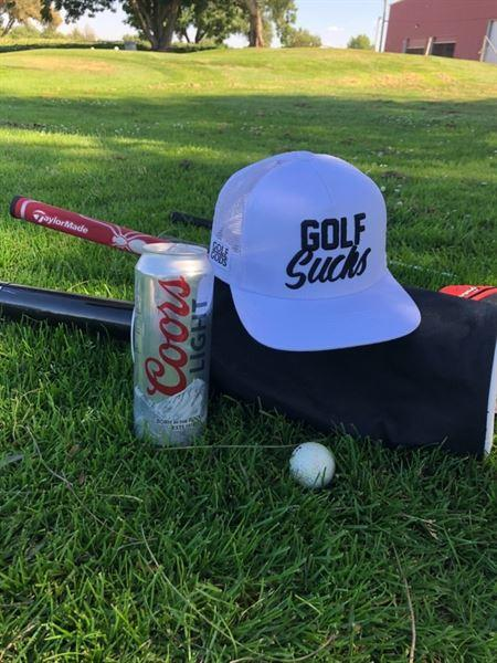 Michael H. verified customer review of Golf Gods - Golf Sucks Snapback in White
