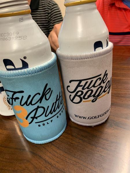 Chase T. verified customer review of Golf Gods - Fuck Bogeys Koozie