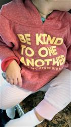Kelly F. verified customer review of Be Kind Hoodie Kids - Red