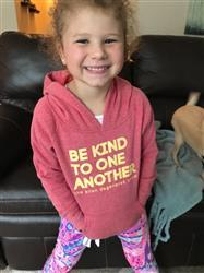 Linda M. verified customer review of Be Kind Hoodie Kids - Red