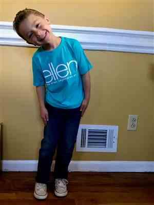 renee s. verified customer review of ellen Kids Crew Neck- Blue