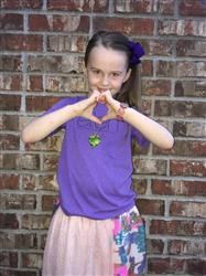 Angie W. verified customer review of ellen Show Purple Kids Tee