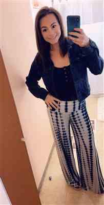 Sara Holmes verified customer review of Hear The Music Tie Dye Palazzo Pants - Black/White