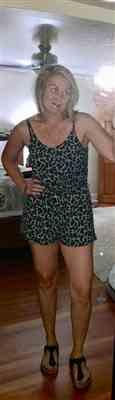 Larissa S. verified customer review of Feeling Fierce Leopard Romper - Heather Grey