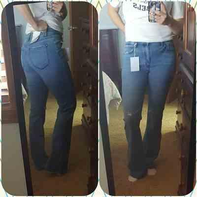 Sara Whitney verified customer review of KAN CAN Alexa Bootcut Jeans - Medium Wash