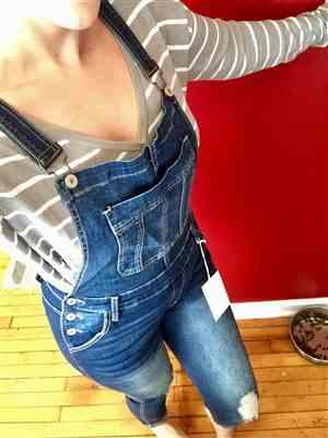 Auburn Melton verified customer review of KAN CAN Charlotte Overall Jeans - Dark Wash