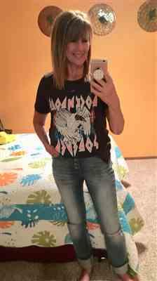Laurie W. verified customer review of Rock N Roll Forever Graphic Tee - Black