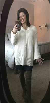 Lindsey Copeland verified customer review of Missing You Today Sweater - Cream