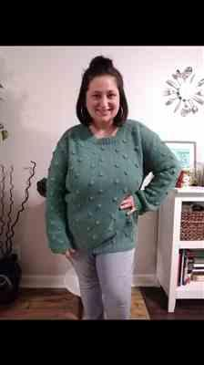 Stephanie Byrd verified customer review of For The Love Knit Sweater - Teal