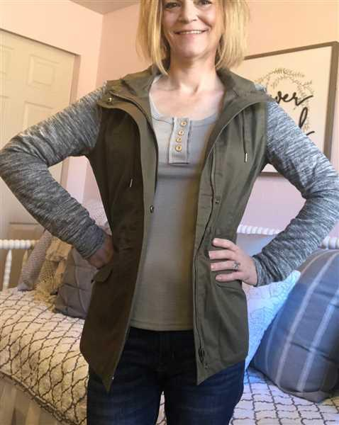Amy Daniels verified customer review of When I'm With You Hooded Jacket - Olive