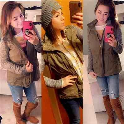 Sara Holmes verified customer review of When I'm With You Hooded Jacket - Olive