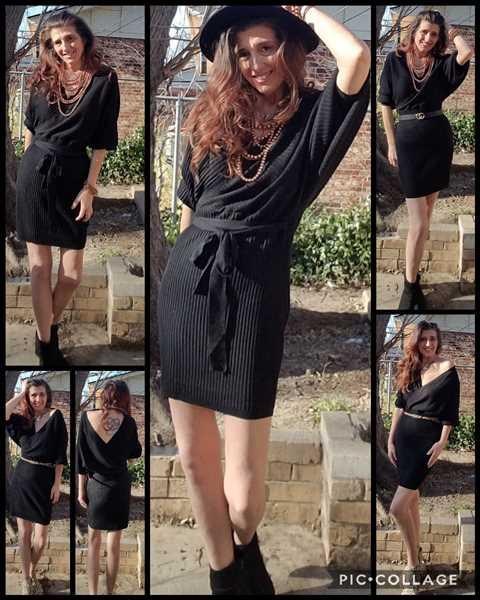Robin B. verified customer review of Best Day Ever Sweater Dress - Black