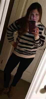Melissa R. verified customer review of Show Your Stripes Sweater - Black