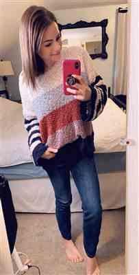Sara Holmes verified customer review of Fall For Adventure Sweater - Multi