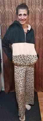 Robin B. verified customer review of Let's Do This Leopard Hoodie - Black