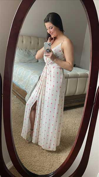 Lindsey Copeland verified customer review of Change Directions Maxi Dress - Natural & Red