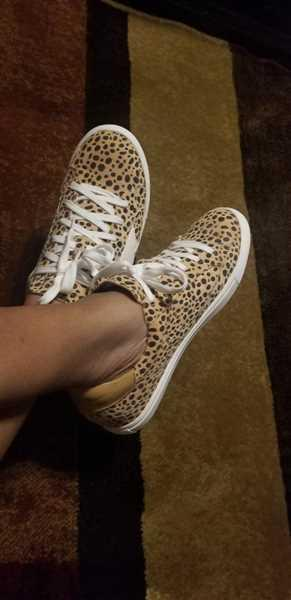 Cynthia B verified customer review of You're A Rockstar Sneakers - Spotted Leopard