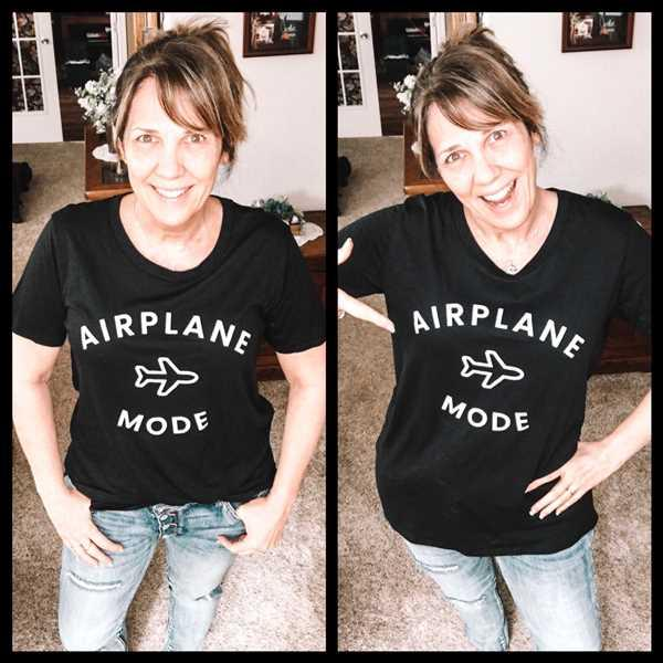 Melissa Wittkopf verified customer review of Airplane Mode Graphic Tee - Black