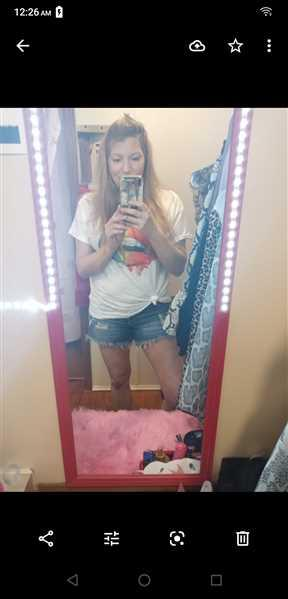 Angel B  verified customer review of Taste The Rainbow Graphic Tee - White