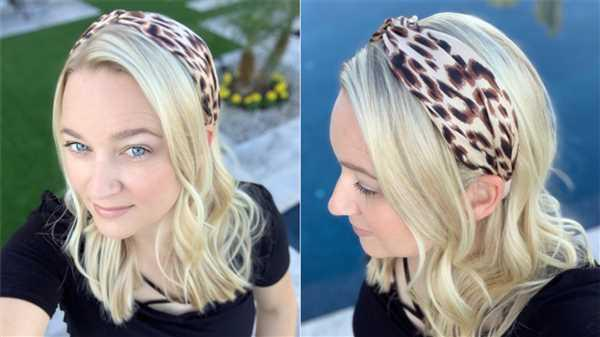 Amber Swaney  verified customer review of Angie Leopard Headband - Tan