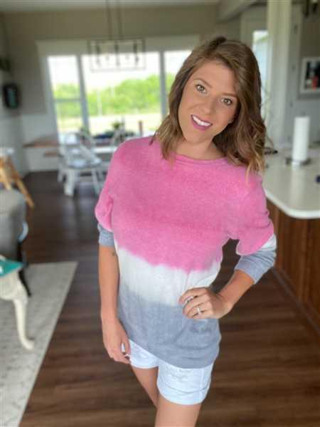 Closet Candy Boutique Changing Tides Dip Dye Top - Fuchsia Review