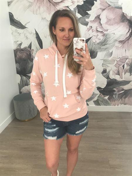 Closet Candy Boutique Make Yourself At Home Star Hoodie - Blush Review
