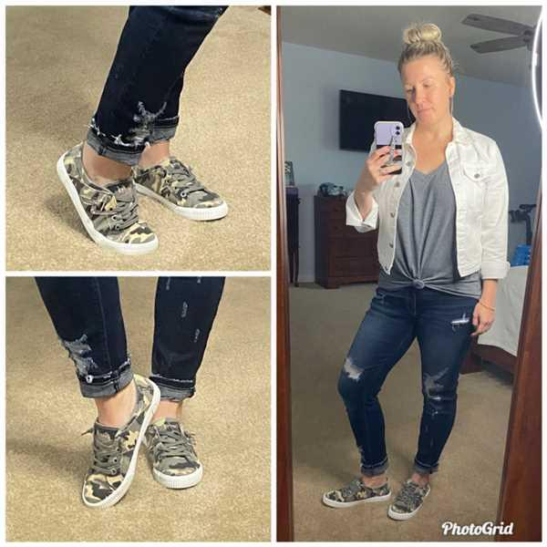 Closet Candy Boutique Nellie Sneakers - Grey Camo Review
