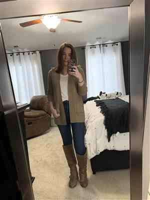 Kaety Hill verified customer review of At Your Leisure Cardigan - Tan