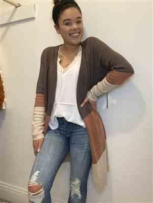Keesha Pegues verified customer review of Change Of Seasons Cardigan - Multi