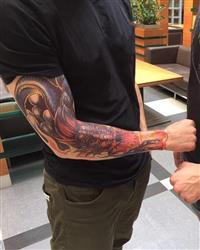Vitaly S. verified customer review of Fire & Dragon Sleeve
