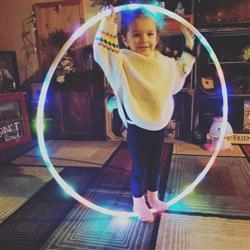 Brandi F. verified customer review of Great Starter LED Hula Hoop | 28 LED's