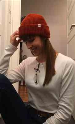 Cynthia Beaudry verified customer review of Rust Beanie
