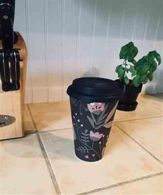 Laurence B. verified customer review of Wild Flower Cafe Yo - Bamboo Reusable Cup