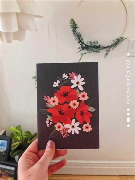 Mimi & August Fleurs Rouges Greeting Card Review