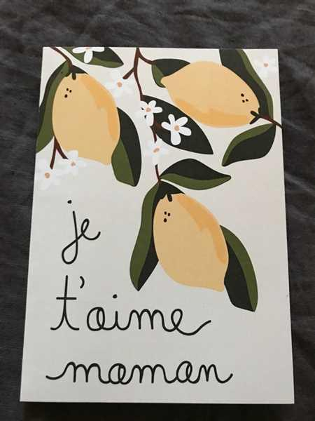 Mimi & August Je t'aime Maman Greeting Card Review
