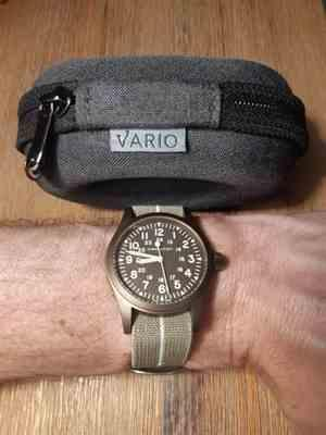 James verified customer review of Deluxe Charcoal Black with Black Zipper Watch Travel Case
