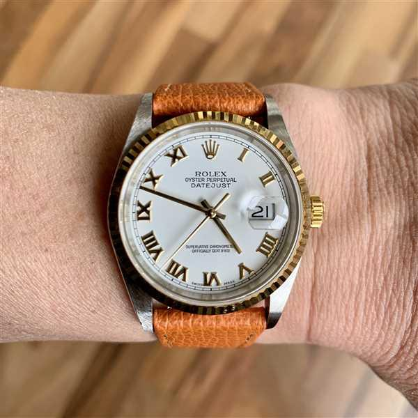 Ben S verified customer review of Vintage Italian Leather Mandarin Orange Watch Strap with Quick Release